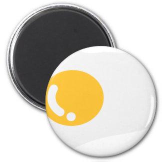 Huevo frito de un solo lado imán redondo 5 cm