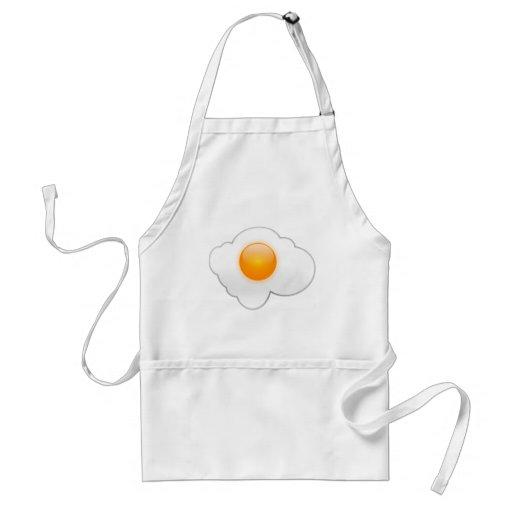 Huevo frito delantal