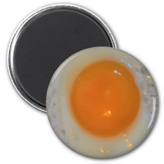 Huevo frito imán redondo 5 cm