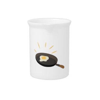 Huevo frito jarras