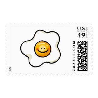 Huevo frito lindo timbres postales