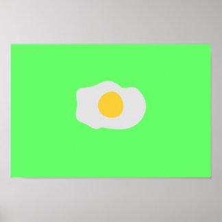 huevo frito póster