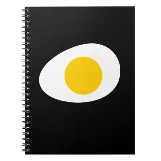 huevo frito simple intrépido libreta espiral
