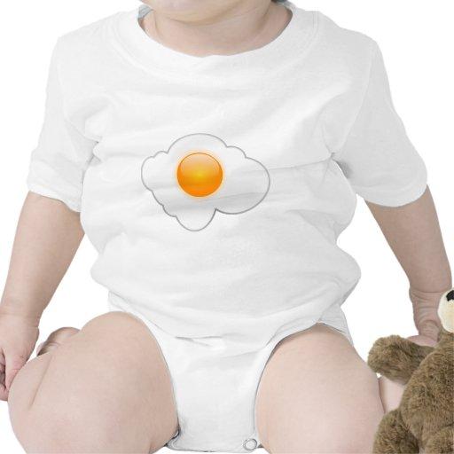 Huevo frito trajes de bebé