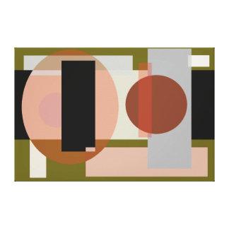 Huevo geométrico abstracto y formas impresiones en lona estiradas