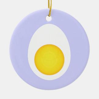 Huevo hervido adorno redondo de cerámica