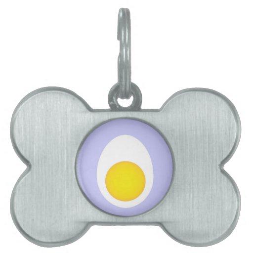 Huevo hervido placa mascota