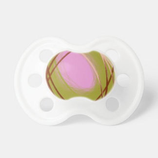 huevo marrón y rosado en la jerarquía chupetes para bebés