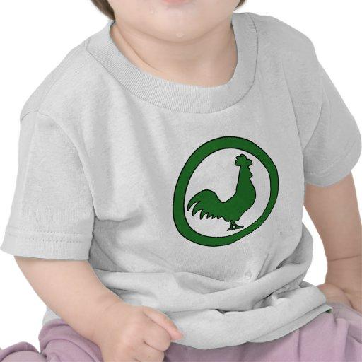 Huevo masculino de la granja de la silueta del pol camisetas