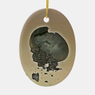 Huevo Noir Adorno Ovalado De Cerámica