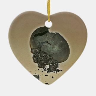 Huevo Noir Adorno De Cerámica En Forma De Corazón