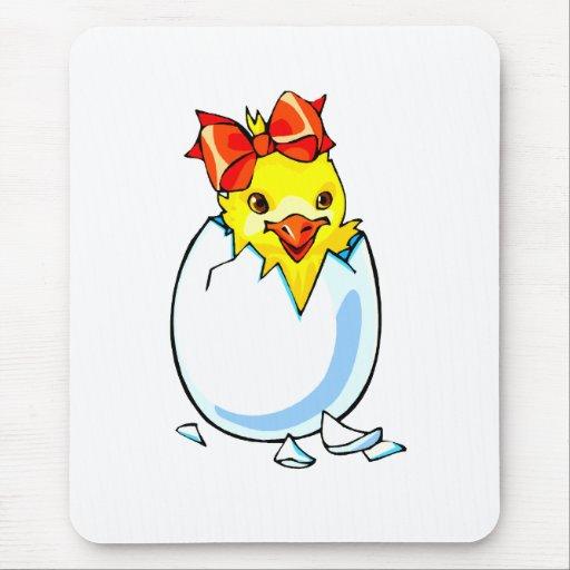 huevo para incubar de la cinta roja del polluelo tapete de ratón