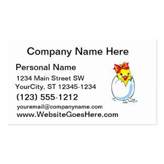 huevo para incubar de la cinta roja del polluelo tarjetas de visita