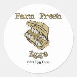 Huevo para los pegatinas de la venta - huevos etiquetas redondas