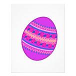 Huevo pintado púrpura comunicados personalizados