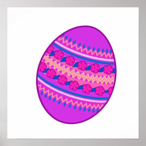 Huevo pintado púrpura poster