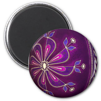 Huevo púrpura de Pysanky Pascua Imanes