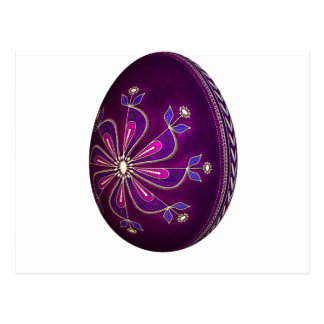 Huevo púrpura de Pysanky Pascua Postal