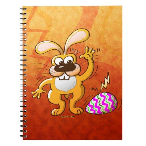 Huevo que se agrieta de Pascua Libro De Apuntes
