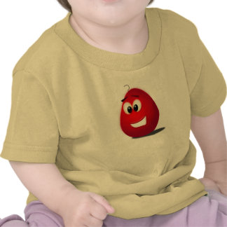 huevo rojo feliz camiseta