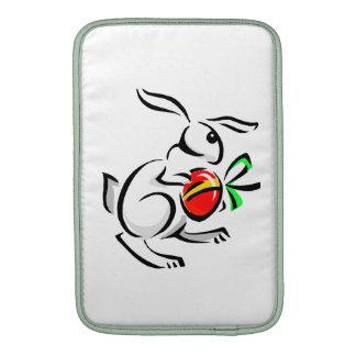 huevo rojo hopping png del conejo blanco abstracto funda macbook air