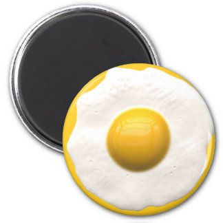 Huevo sobre fácil imán redondo 5 cm
