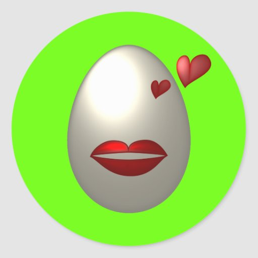 Huevo-Sotic Pegatina Redonda