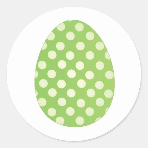 Huevo verde pegatina redonda