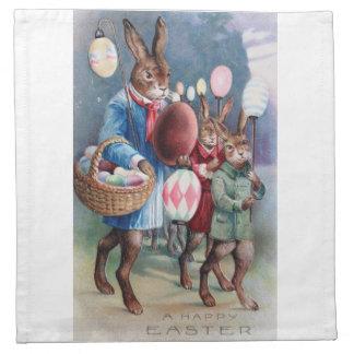 Huevo vestido antigüedad de los conejitos de las s servilleta