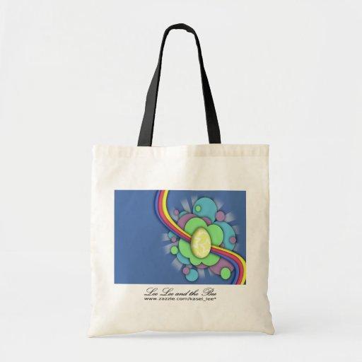 Huevo y arco iris, bolso de compras bolsa