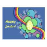 Huevo y arco iris, postal