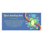 Huevo y arco iris, tarjeta del estante lonas publicitarias