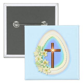 Huevo y cruz de la ventana pin