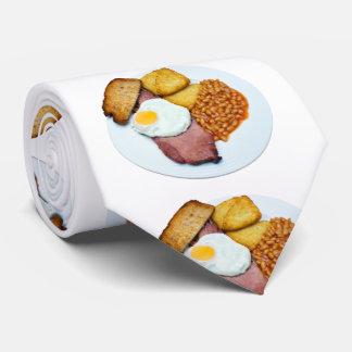Huevo y habas del Gammon Corbata Personalizada