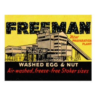 Huevo y nuez industriales de Freeman del kitsch re Tarjetas Postales