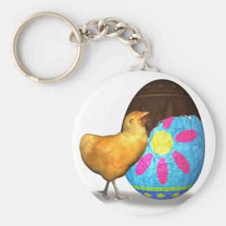 Huevo y polluelo de chocolate de Pascua Llaveros