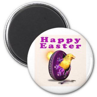Huevo y polluelo de Pysanky Pascua Imán Redondo 5 Cm