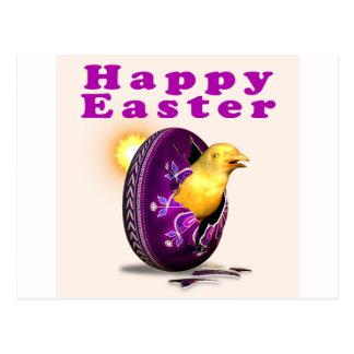 Huevo y polluelo de Pysanky Pascua Postal