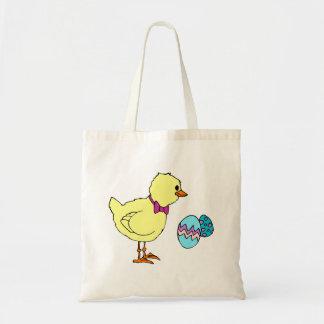 huevos abstractos del polluelo dos bolsa lienzo