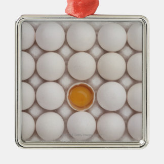 Huevos Adorno Navideño Cuadrado De Metal