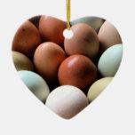 Huevos bonitos de la granja de pollo ornamentos para reyes magos
