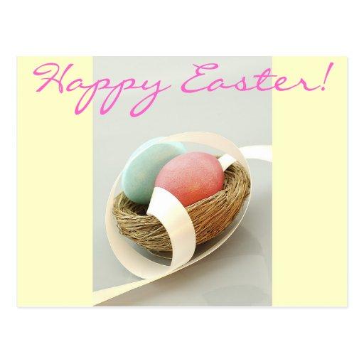 Huevos bonitos felices de Pascua Pascua Tarjetas Postales