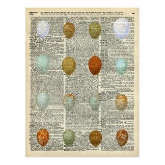 Huevos británicos de los pájaros tarjetas postales