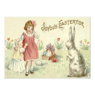 """Huevos coloreados cesta del conejito de pascua de invitación 5"""" x 7"""""""