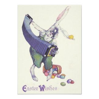 """Huevos coloreados cesta del polluelo del conejito invitación 5"""" x 7"""""""