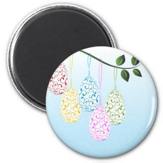 Huevos con los remolinos 2 imán redondo 5 cm