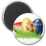 huevos de 3D Pascua en hierba Imanes