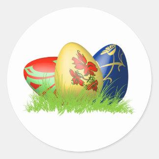 huevos de 3D Pascua en hierba