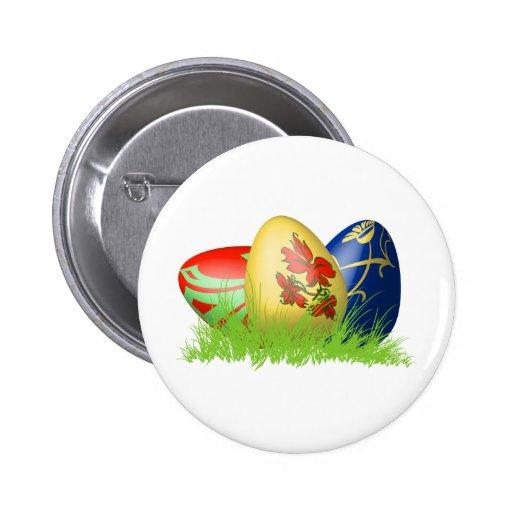 huevos de 3D Pascua en hierba Pins