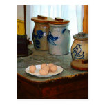 Huevos de Brown y tarros del jengibre Postal